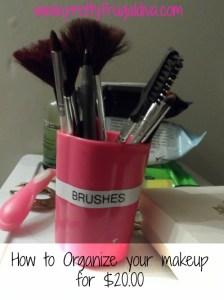 how to organize your makeup for 20