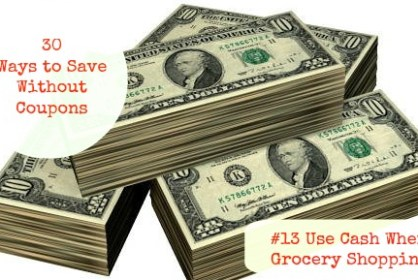 30 Ways to Save -use Cash