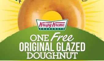 Krispy Kreme: One Free Doughnut 3/9
