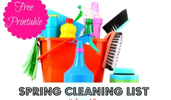 Free Spring Cleaning Printable List