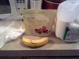 berry banana breakfast smoothie ingredients