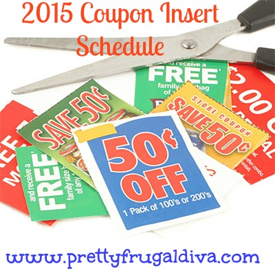 2015 coupon insert schedule