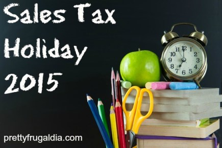 Sales Tax Holiday 2015