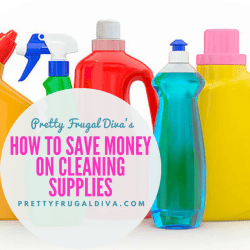 how to save money on cleaning supplies
