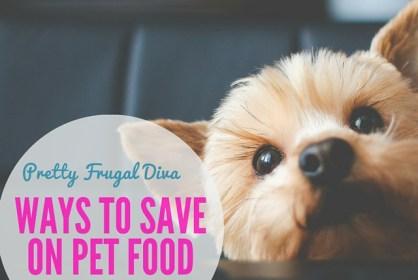 ways to save on pet food