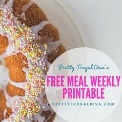 Free Meal Weekly Printable