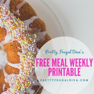 Free Meal Weekly Printable