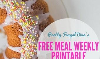 Weekly Food Planner Printable