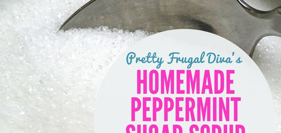 peppermint sugar scrub label