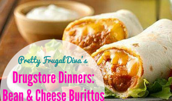 Drugstore Dinner: Bean and Cheese Burritos