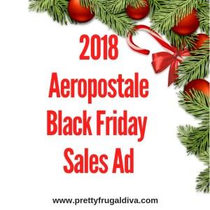 2018 Aeropostale Black Friday Sales Ad
