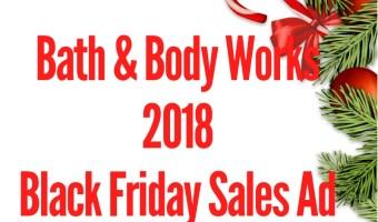 2018 Bath & Body Works Black Friday Sales Ad