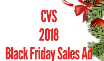 2018 CVS Black Friday Sales Ad