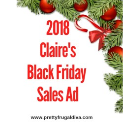 2018 Claire's Black Friday Sales Ad