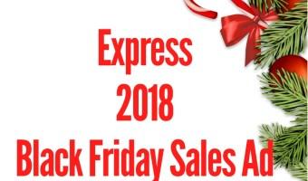 2018 Express Black Friday Sales Ad