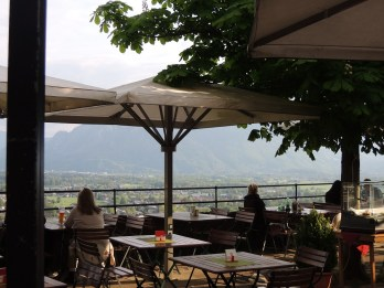 A gorgeous view from Hohensalzburg's cafe, which I didn't get a chance to try.