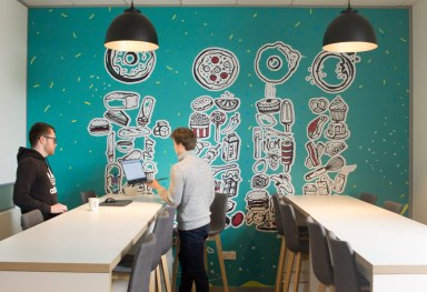 Teamwork Office Wall Mural Design