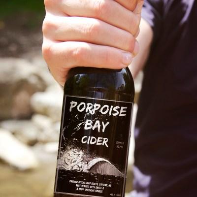 Porpoise bay craft cider close up