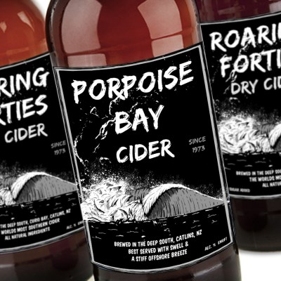 Porpoise bay craft cider branding