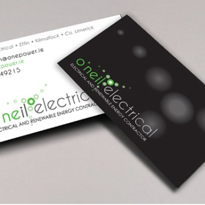 'O'Neil Electrical' business card design