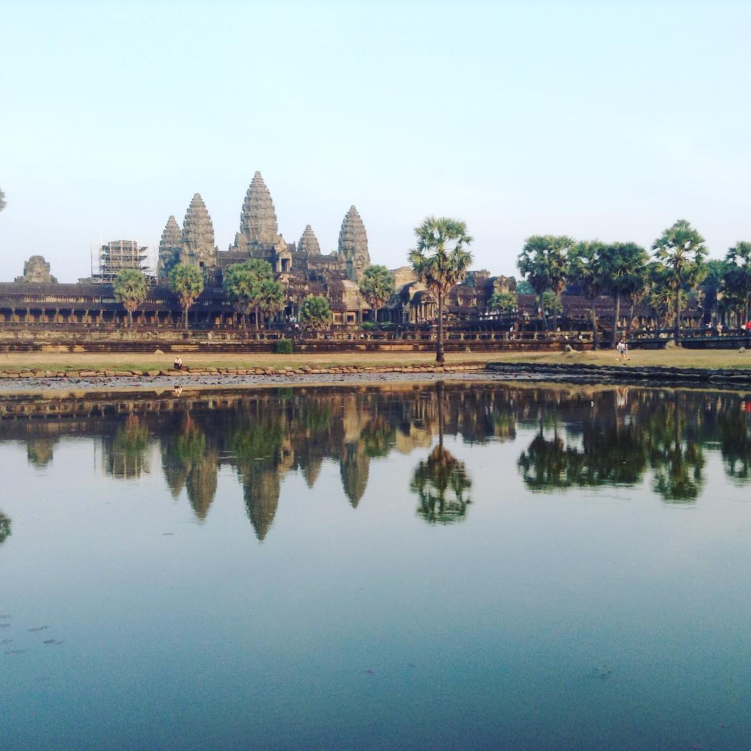 Angkor WHAT!!! It's a pretty place alright in fact some might even call it a pretty handsome place