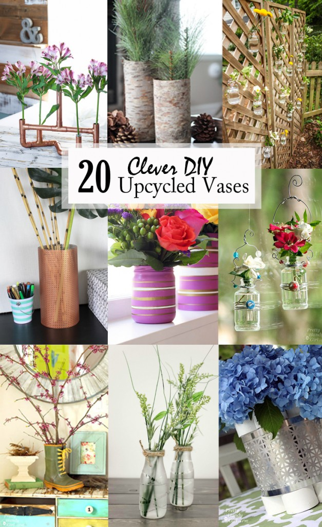 Clever Diy Upcycled Vases  Pretty Handy Girl