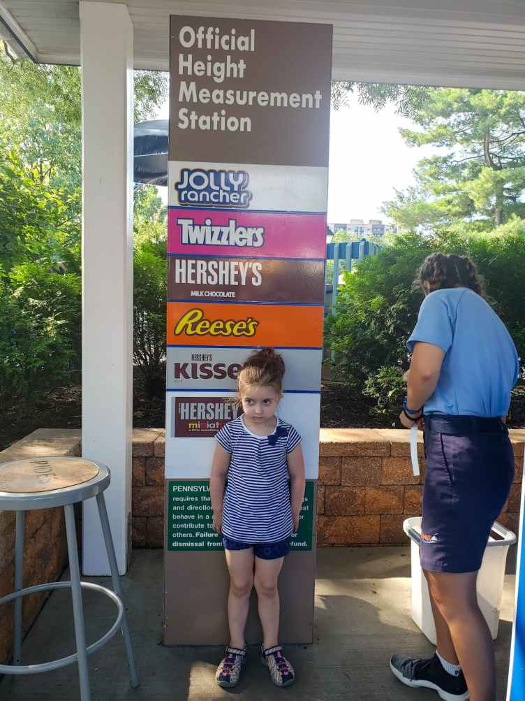 Hershey Park Official Ride Measuring Station