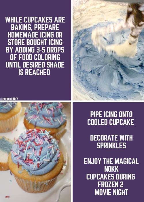 Frozen 2 Magical Nokk Cupcakes