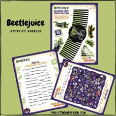 Beetlejuice Activity sheets