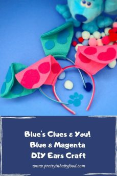 Blues clues and you DIY Blue and Magenta Ears
