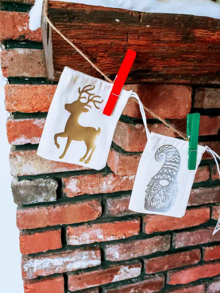 Christmas Reindeer and gnomes advent calendar