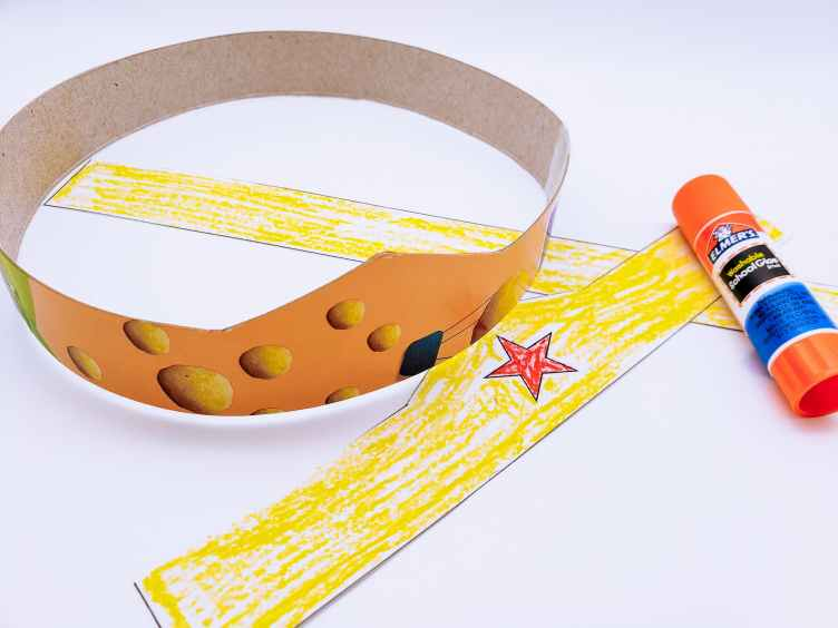 Supplies needed for DIY Wonder Woman Tiara and Bracelets Craft
