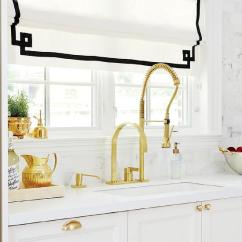 White Kitchen Faucet Cheap Tables And Chairs Cabinets With Gold Appliances Tips Black Accents