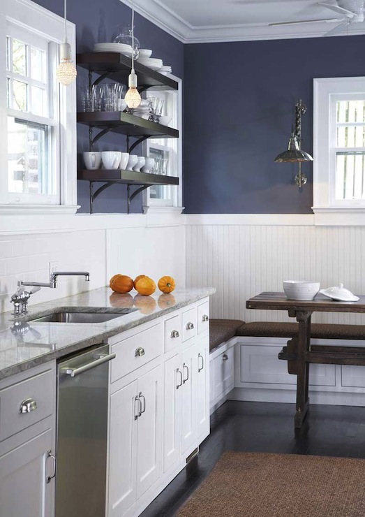 pictures for kitchen walls play kitchens boys 37 beautiful white navy blue with cabinets