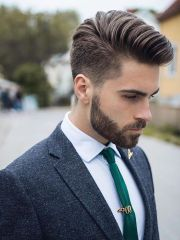 men hairstyle with suits