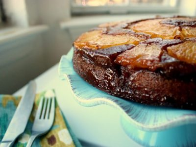 Salted Caramel Pineapple Upside-Down Cake