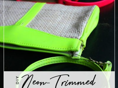 DIY Neon-Trimmed Purses
