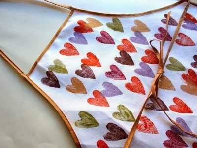 DIY Hand-Stamped Heart Apron for your Holiday Cooking/Gifting/EATING!
