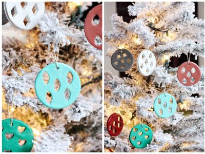 DIY Geometric Clay Ornaments