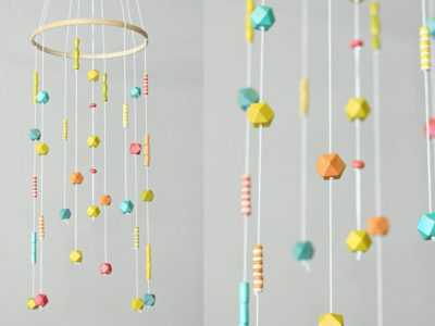DIY Beaded Baby Mobile