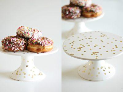 DIY Confetti Cake Plate