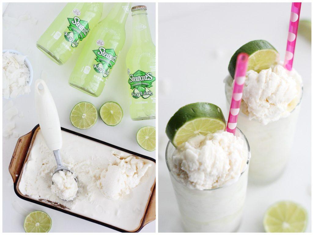 Coconut Key Lime Floats
