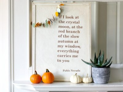 Upcycled Fall Wall Art