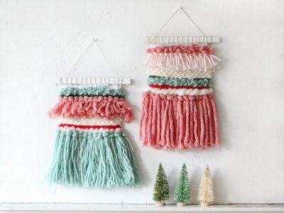DIY Woven Holiday Wall Hanging
