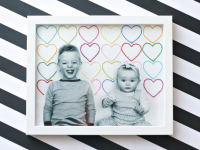 DIY Heart Embroidered Photos
