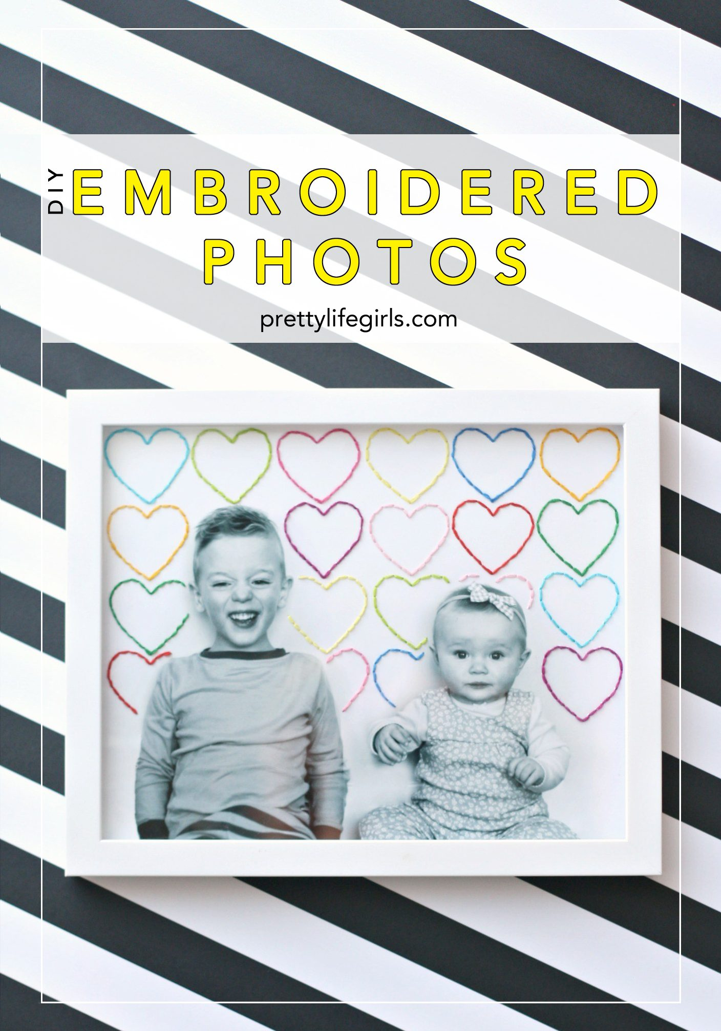 DIY embroidered photos tutorial featured by top US craft blog, Pretty Life Girls