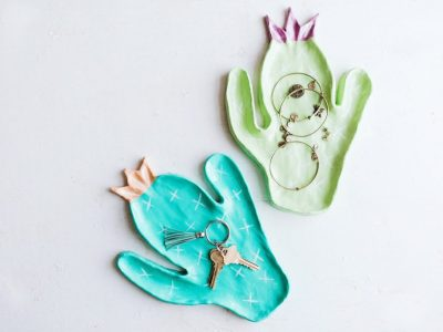 DIY Clay Cactus Trinket Dishes