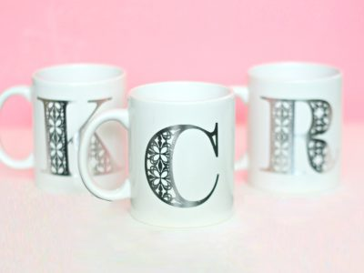 DIY Tattoo Monogram Mugs