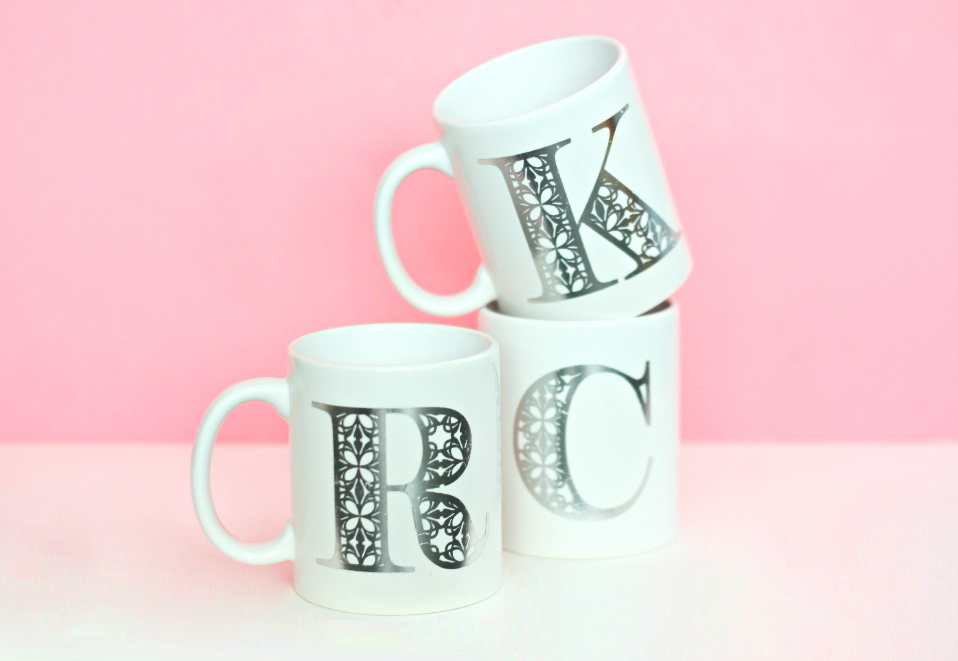 tattoo monogram mugs