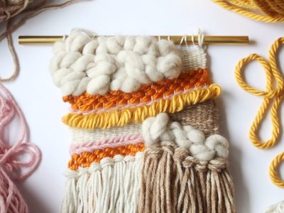 Woven Yarn Fall Wall Hanging
